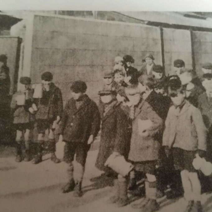 Tilbury children queuing for their soup in the 1930's depression.