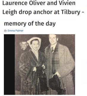 Laurence Olivier and Vivien Leigh at Tilbury