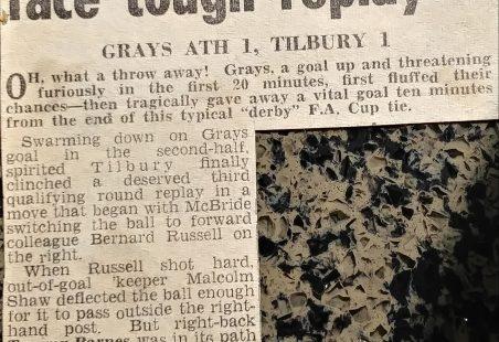 Tilbury Football Club 1961