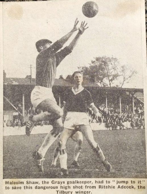 Malcolm Shaw Grays goalkeeper