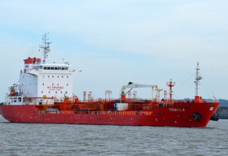 Tanker TEQUILA on the Thames