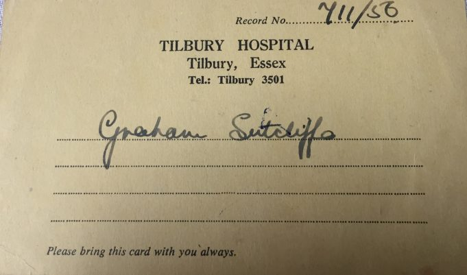Tilbury Hospital Appointment Card 1956 | G.Sutcliffe