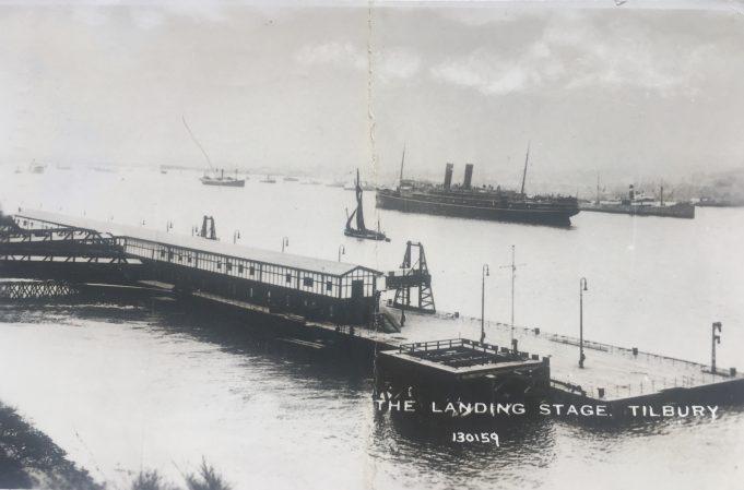 Postcard of Tilbury landing Stage Posted 1939   Graham Sutcliffe