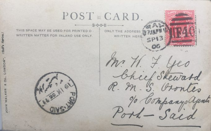 Postcard to R.M.S Orontes | Graham Sutcliffe
