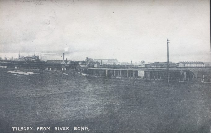 1904 postcard looking at Tilbury from the river bank | Graham Sutcliffe