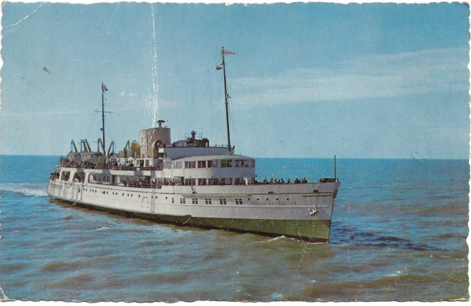 Post Card of The Royal Sovereign, one of the Eagle Steamers.