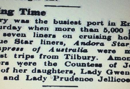 The Old Days Of Cruising From Tilbury