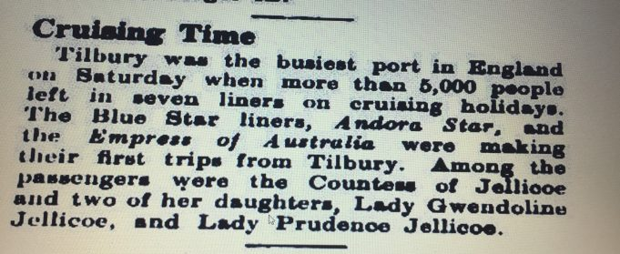 The Old Days Of Cruising From Tilbury | G Sutcliffe