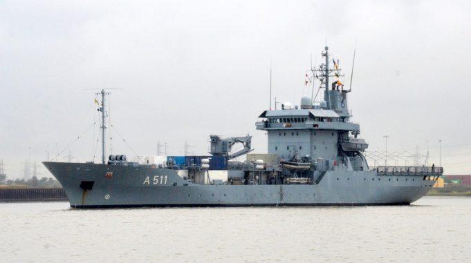 A511  German replenishment ship    FGS ELBE   Jack Willis