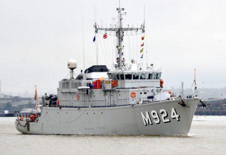 NATO flotilla passing Tilbury